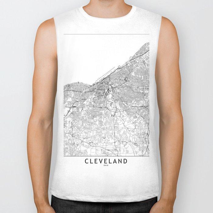 Cleveland White Map Biker Tank
