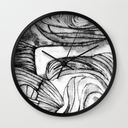 Onions (black and white) Wall Clock