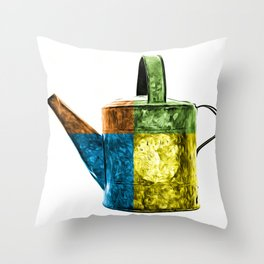 Watering Can Pop Art Throw Pillow