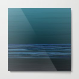 Horizon (blue) Metal Print