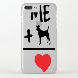 Me Plus A Dog Equals Love... Clear iPhone Case