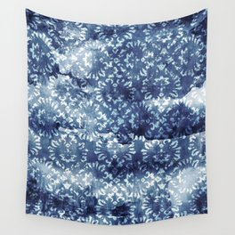 Indigo Batik Abstract Wall Tapestry