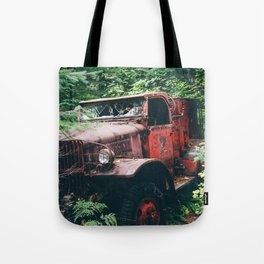 Abandoned Truck in the Woods Tote Bag