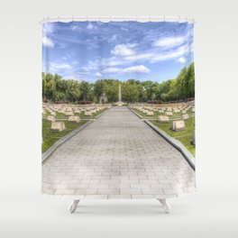 Russian War Graves Budapest Shower Curtain