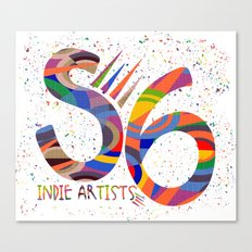 Indie Artists Society 6 Canvas Print