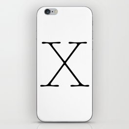 Letter X Typewriting iPhone Skin