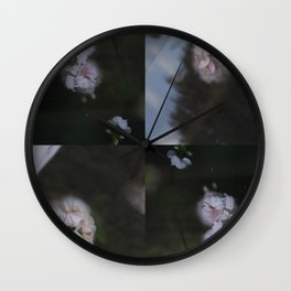 Abstract with geraniums Wall Clock