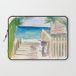 A Day At The Beach with Bike Laptop Sleeve