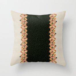 Hibiscus Tiles Throw Pillow