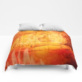 Flaming Passion - Love Couples Comforters