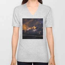 Light Will Always Emerge Through Storm Clouds Unisex V-Neck