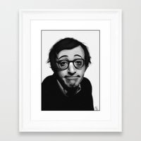 woody allen Framed Art Prints featuring Woody Allen by Alexia Rose