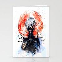 tokyo ghoul Stationery Cards featuring Tokyo Ghoul - Kaneki Ken by Kayla Phan