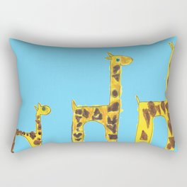 Family giraffe Rectangular Pillow