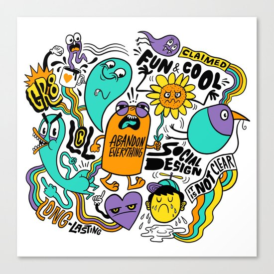 Fun & Cool Canvas Print