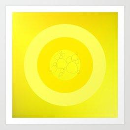 Yellow Ornament Cricle Art Print