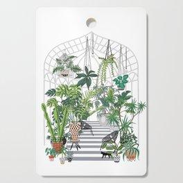 greenhouse illustration Cutting Board
