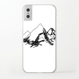 Mountain Sketch Clear iPhone Case