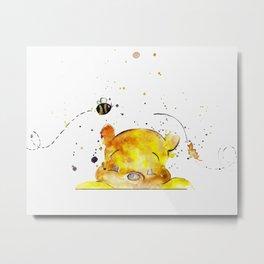 Yellow Bear Metal Print