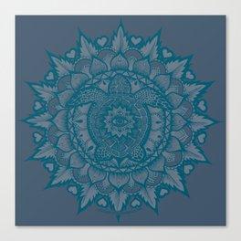 Turtle Mandala by Julie Oakes Canvas Print