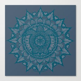 Turtle Mandala by Julie Oakes Canvas Print