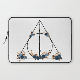 Deathly Hallows in Blue and Brown Laptop Sleeve