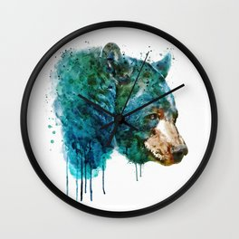 Bear Head Wall Clock