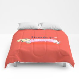 Valentine's Day dachshund dog Comforters