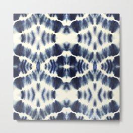 BOHEMIAN INDIGO BLUE Metal Print
