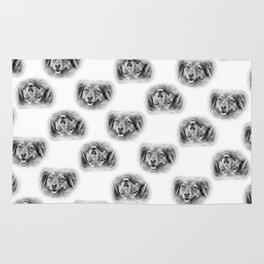 Pattern of a dog smiling Rug