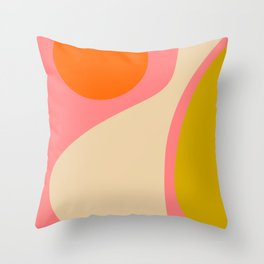 abstract composition modern blush pink Throw Pillow