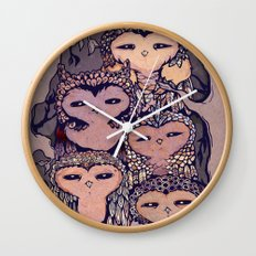 Day Owls Wall Clock