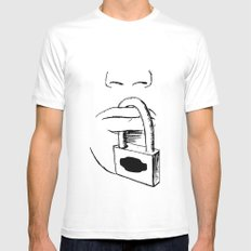 Freedom of Expression 3 of 3 Mens Fitted Tee MEDIUM White