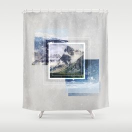 Inspiring mountain Shower Curtain