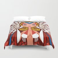 chile Duvet Covers featuring FIFA 2014 Samba Girls Series: Chile by Pweety Sexxay