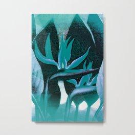 Floreal - Tropical Bird Of Paradise Flower Surrealism Metal Print