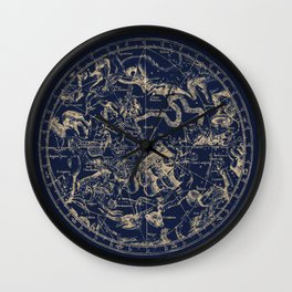 Gold Ceiling | Zodiac Skies Wall Clock