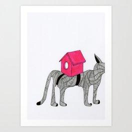 Cat-Snail Art Print