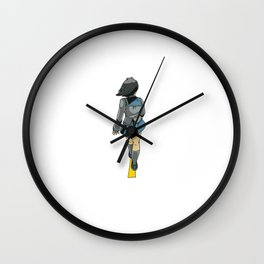 Illustration girl in anime style Wall Clock