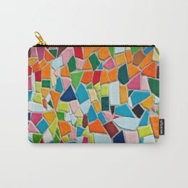 Mosaic Tiles Pattern Texture Ornament Abstract Carry-All Pouch