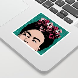 Floral Frida Sticker