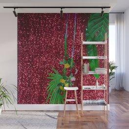 FUNK RED + FLEURS Wall Mural