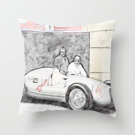 Auto Union No. 4 Throw Pillow