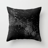 outer space Throw Pillows featuring Outer Space by kris kang