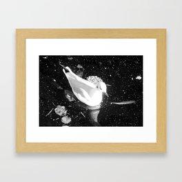 White bird Framed Art Print