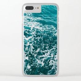 Amalfi Coast Water XVI Clear iPhone Case