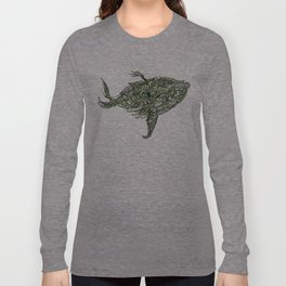 whale wings Long Sleeve T-shirt