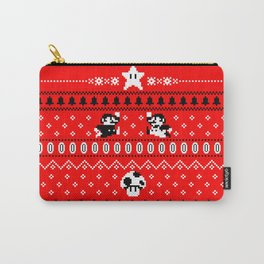 White Mario Christmas Carry-All Pouch