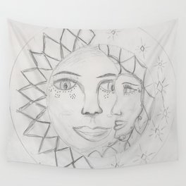 Moon and Sun Wall Tapestry