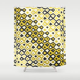 Asymmetry collection: retro shapes and colors Shower Curtain